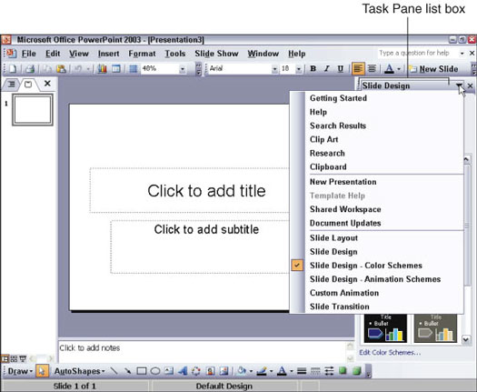 Working with the Task Pane in Office 2003 - dummies