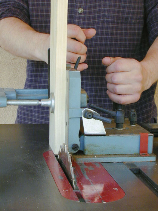 A tenoning jig makes cutting tenons really easy.