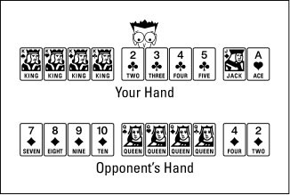 Sometimes you can add cards to combinations after your opponent knocks.