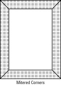 A plain border can have squared or mitered corners.