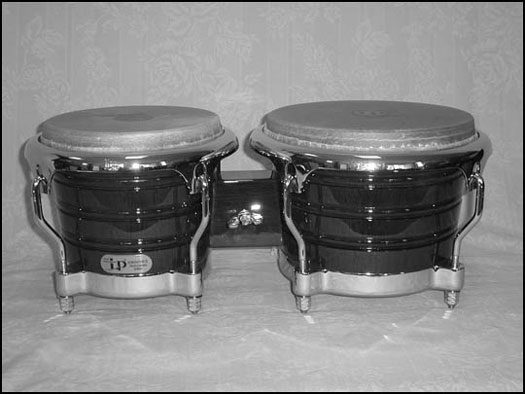 The bongo drums come from Cuba.