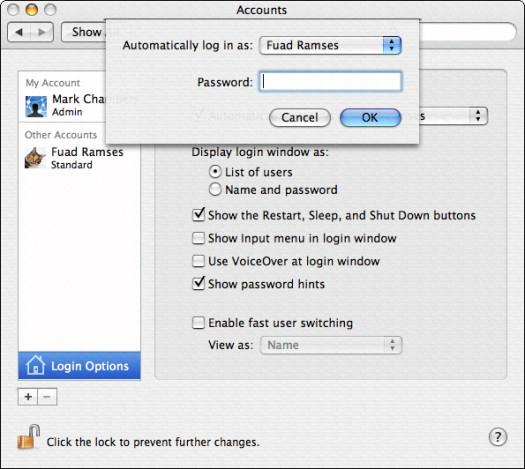 Configuring Your Login Screen in Mac OS X - dummies