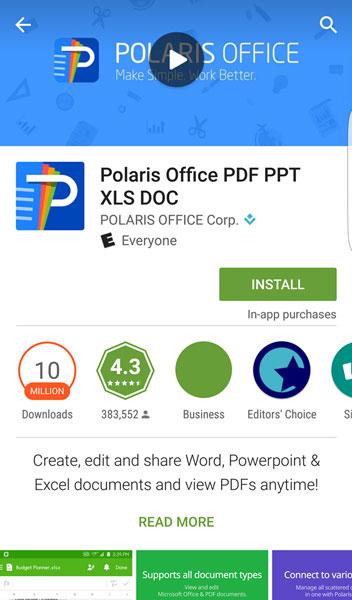 how to delete polaris office documents