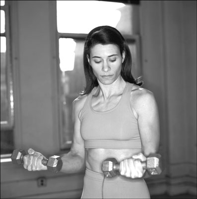 You can use dumbbells for hundreds of exercises. [Credit: Photograph by Sunstreak Productions, Inc.]