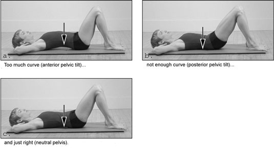Finding the Neutral Spine position in Pilates.