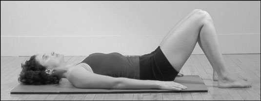 The Abdominal Scoop position in Pilates.
