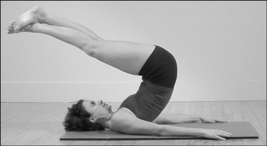 The Hip-Up position in Pilates.