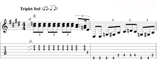 Alternating between a lead lick and a bass lick.