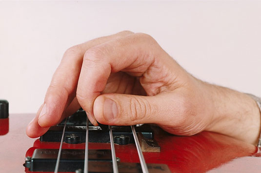 A pick in the open-hand style.