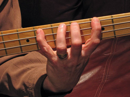 Cover one fret per finger.