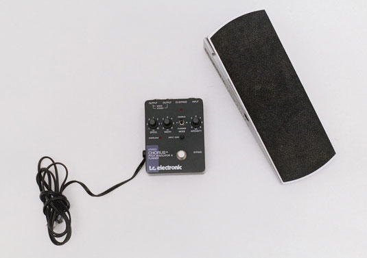 A chorus unit and a volume pedal.