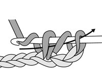 Draw the yarn through all 3 loops on your hook.