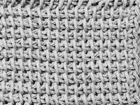 A swath of afghan stitch.