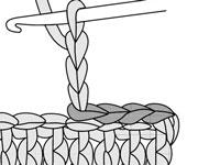 Decreasing blocks or spaces in filet crochet.