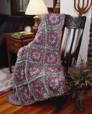A crocheted motif afgan.