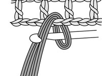 Draw the ends of the yarn through the loop.