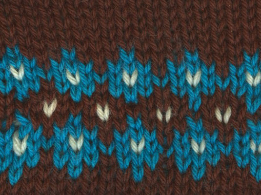 Knitting Patterns For Dummies Download : How to Knit a Small Fair Isle Motif - dummies