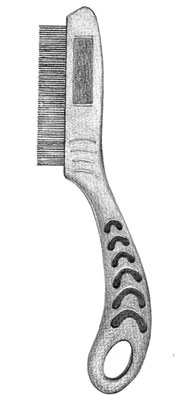 Detangle hair with a short-toothed comb.