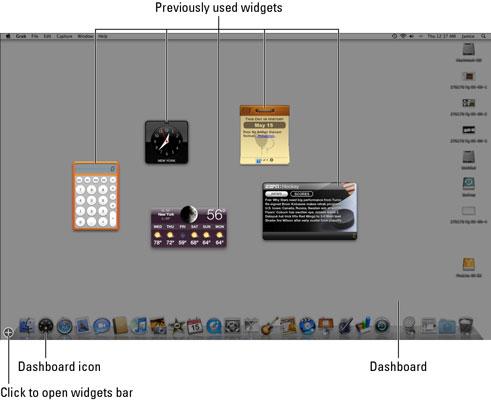How to Access the Mac Dashboard Widgets - dummies