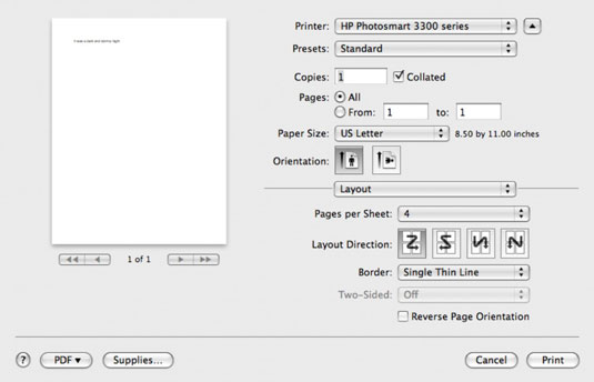 How to customize printing on your mac dummies image0g publicscrutiny Image collections