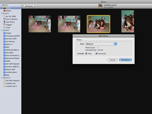 how to send photos by email on mac