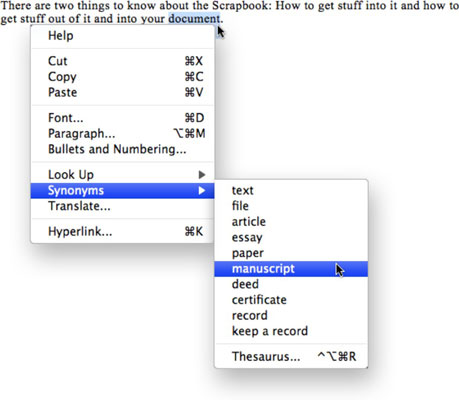 How To Use The Word 2008 For Mac Thesaurus Dummies