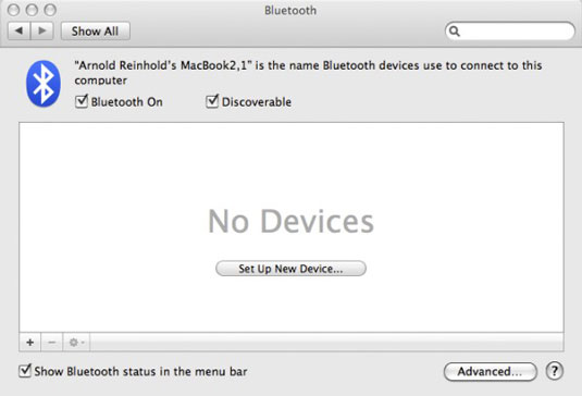 How to Set Up Bluetooth on Your Mac - dummies