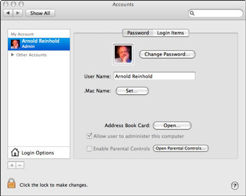 How to Set Up a Separate Mac Account for Each Child - dummies
