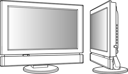 Choose an LCD display for sharp, eye-popping pictures.