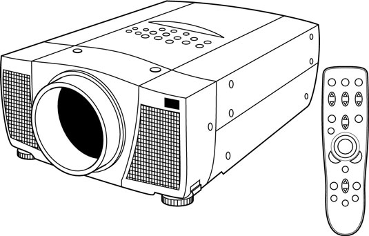 Provide a clear path between the projector unit (shown) and the screen in a front-projection system.