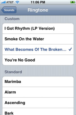 Choose a ringtone.