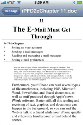 How to Read E-Mail Attachments on Your iPhone - dummies