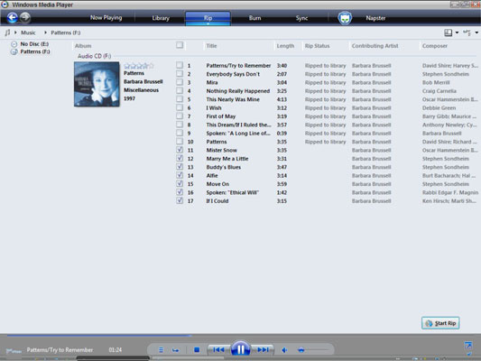 How To Rip Music From A Cd In Windows Media Player Dummies