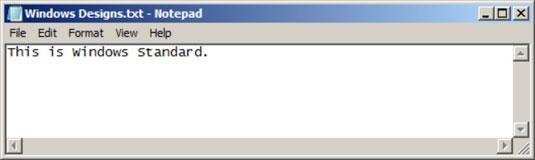 The Windows Standard design has a decidedly retro feel.