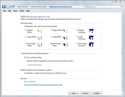 How to Change Your Mouse Pointer in Windows Vista - dummies