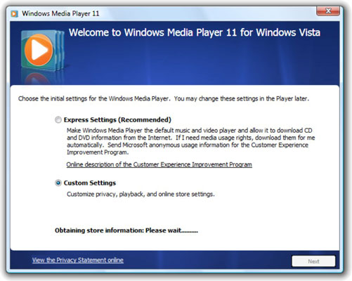 Windows media player 11 standalone download.