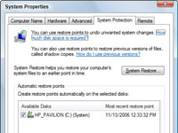 System Properties dialog box in Windows Vista.
