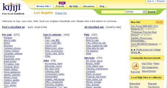 The Los Angeles Kijiji site.