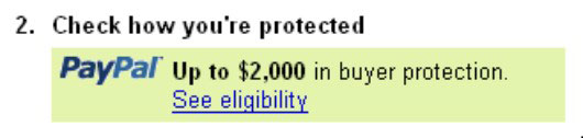 The amount of PayPal Buyer Protection can vary from seller to seller.