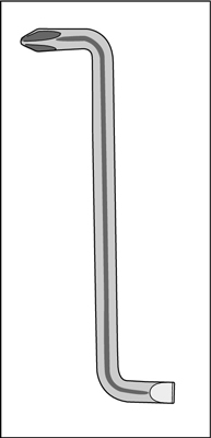An offset screwdriver.