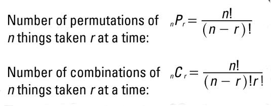 Algebraic Permutations And Combinations Dummies