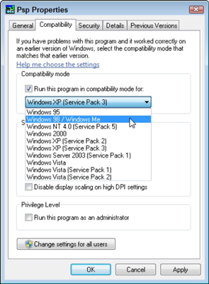 How to Make an Older Program Run in Windows 7 - dummies