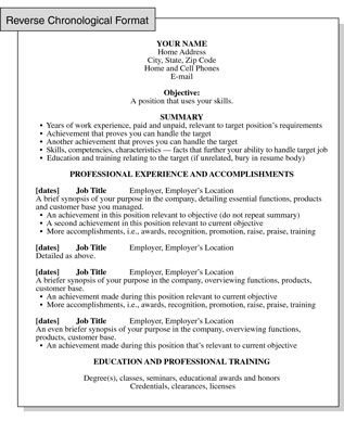 Reverse Chronological Resume Format: Focusing on Work ...