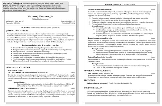 Sle Resume For An Information Technology It Position Dummies. Click Here To View This Resume. Resume. Technology Resume At Quickblog.org