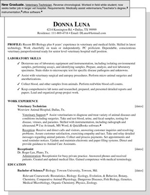 Sample Resume For A New Graduate Dummies