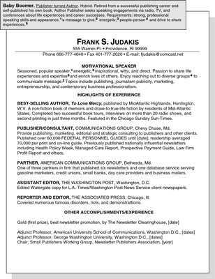Sample Resume for a Baby Boomer - dummies