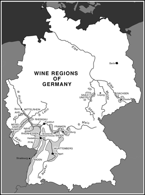 The wine regions of Germany. [Credit: © Akira Chiwaki]