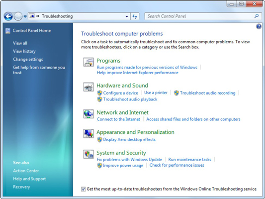How to Troubleshoot Problems Using the Windows 7 Action