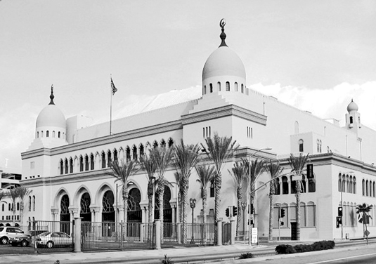 The Al Malaikah Shrine Auditorium in Los Angeles was built in 1926. With 6,300 seats, it's the larg