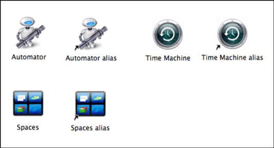 An alias is a pointer to another application, file, or folder.